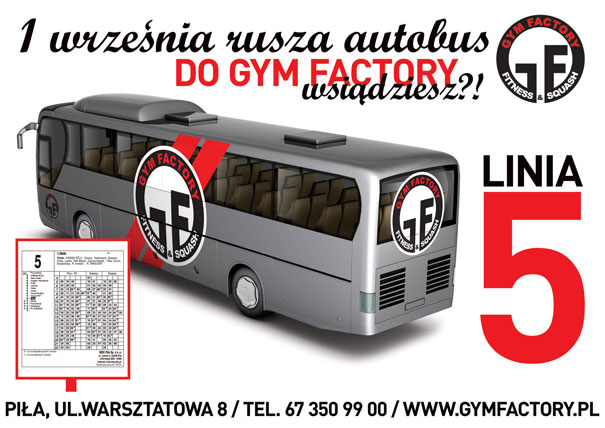 Autobusem MZK do GYM FACTORY
